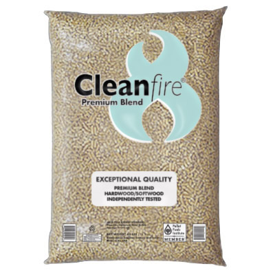 Cleanfire Premium Blend Wood Pellets