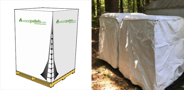 Woodpellets.com Pallet Cover