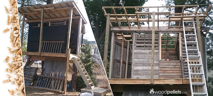 Wood Pallet Treehouse DIY